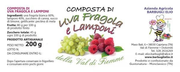 Composta uva lamponi