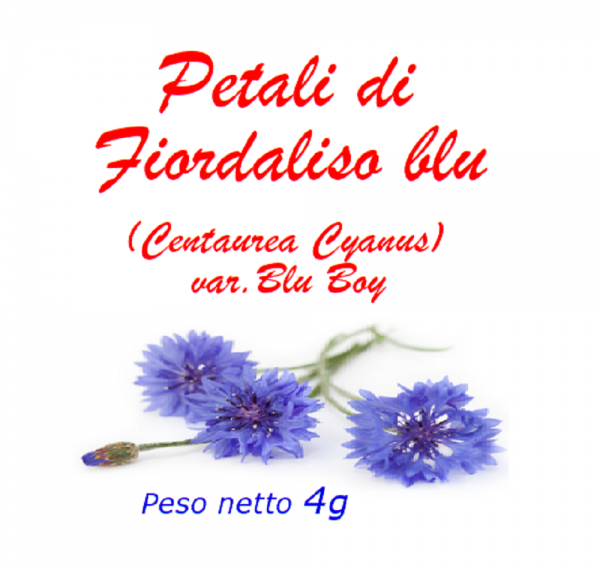 Petali di fiordaliso blu